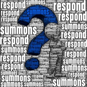 How do I respond to a summons?
